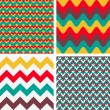 Geometric abstract seamless patterns set  — Imagens vectoriais em stock