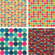 Seamless patterns set: balls, zigzags — Stockvektor