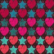 Texture with hearts and stars. — Imagen vectorial