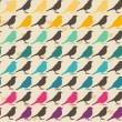 Colorful birds seamless pattern — Vector de stock