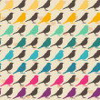 seamless pattern colorati uccelli — Vettoriale Stock