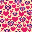 Seamless pattern of heart — Stock Vector #35902061