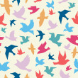 Birds seamless pattern — Stock Vector #35902113
