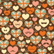 Stock Vector: Seamless pattern of heart