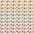Colorful birds seamless pattern. — Imagen vectorial