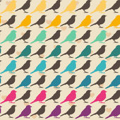 Colorful birds seamless pattern — Stok Vektör