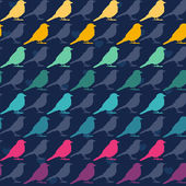 Colorful birds seamless pattern. — Stock Vector