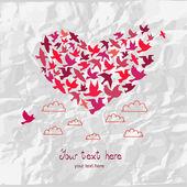 The heart of the birds. — Stock Vector