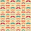 Mustache seamless pattern — Stock Vector #36822365