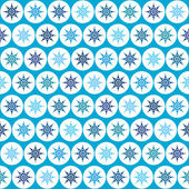 Snowflake seamless pattern — Stock Vector