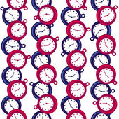 Seamless pattern with watches. — Stock Vector