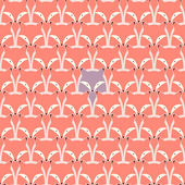 Seamless pattern with fox — Stock Vector