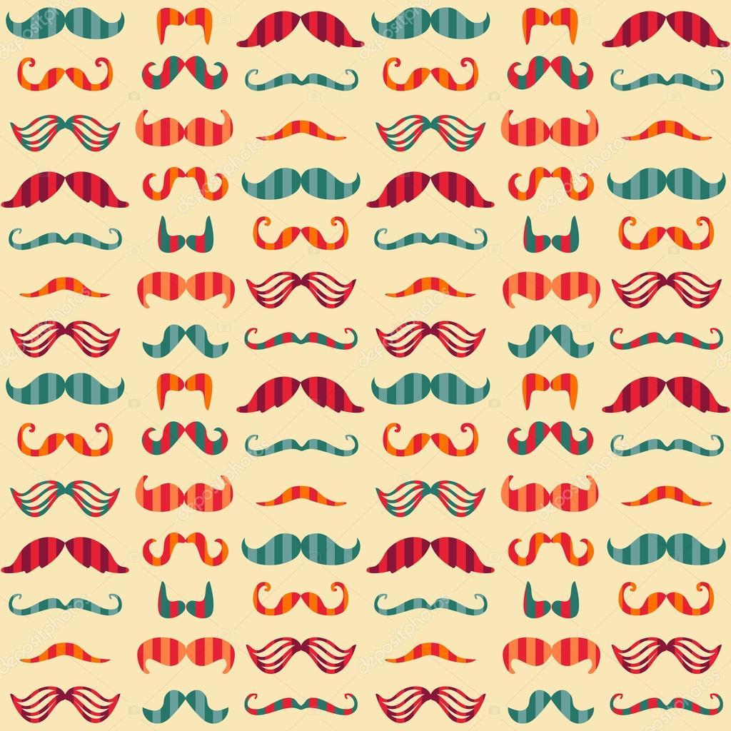 Mustache ballerina wallpaper