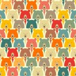 Bears seamless pattern — Stock Vector