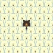 Stock Vector: Bears seamless pattern