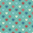 Seamless pattern with heart — ストックベクタ