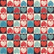 Seamless pattern with heart — ストックベクター #38767973