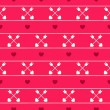 Seamless pattern of Valentine's Day — Stock Vector