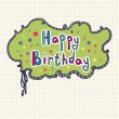 Happy birthday greeting card — Stock Vector