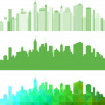 Abstract Green panorama city. — Stock Vector #39705567