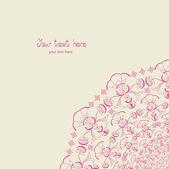 Invitation card. Flower. — Stock Vector