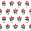 French bulldog seamless pattern — Stock Vector #44583049
