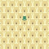 Bears seamless cartoon pattern — Stock Vector