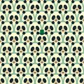 Panda seamless cartoon pattern — Stock Vector