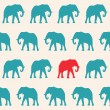 Elephants Seamless pattern — Stock Vector #47794077