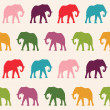 Elephants Seamless pattern — Stock Vector #47794317