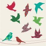Birds silhouettes — Stock Vector #47794559