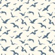 Seagulls seamless pattern — Stock Vector