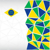 Geometric background. Brazil flag — Stock Vector