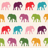 Elephants Seamless pattern — Stock Vector