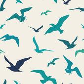 Seagulls seamless pattern — Stock Vector