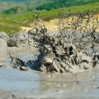 Active mud volcanoes — Stock Photo