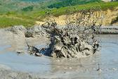 Active mud volcanoes — Stock Photo
