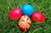 Easter Dekoration with colorful egs — Stock Photo