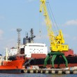 Cargo port. Riga shipyard — Stock Photo