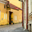 Street in old part of Tallinn city — Stock Photo