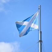 Nautical Andrew flag. Flag of Scotland — Stock Photo