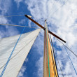 Sail yacht mast close-up — Stock Photo