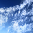 Clouds against blue sky — Stock Photo