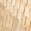 Wooden roof plates close-up — Stock Photo