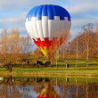 Air balloon reflecting — Stock Photo