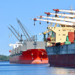 Cargo ships loading in cargo terminal — Stock Photo #32822481