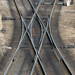 Railroad track close-up — Stock Photo #32822947