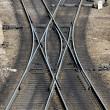 Railroad track close-up — Stock Photo