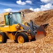 Bulldozer working in sawdust — Stock Photo #32823377