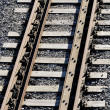Railroad track close-up — Stock Photo #32824465